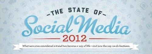 Infografía con los hechos más importantes de social media en 2012